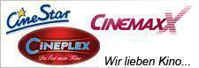 Cinemaxx, Cinestar, Cineplex Logos